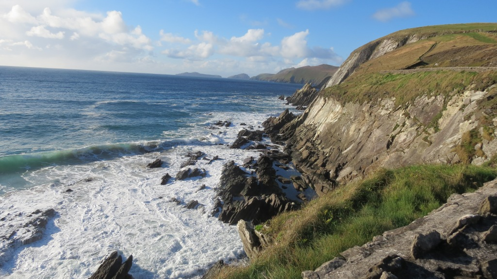 Cliffs and sea on the Ring of Kerry